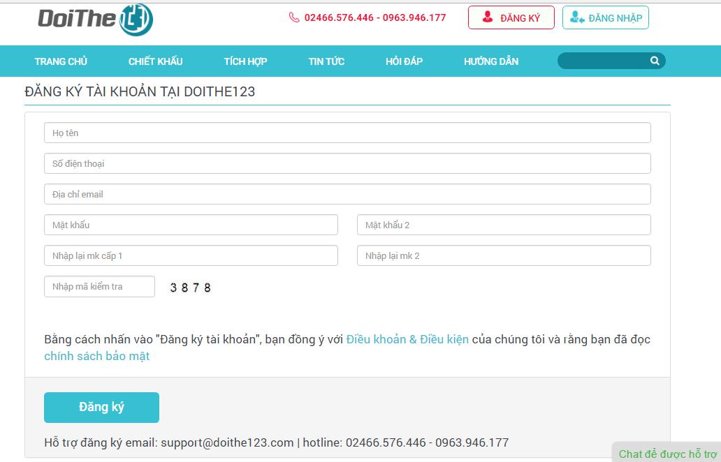 Cách nạp tiền điện thoại Mobifone đơn giản tại hệ thống Website Doithe123.com