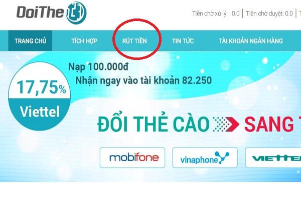 đổi thẻ cào điện thoại Mobifone thành tiền mặt