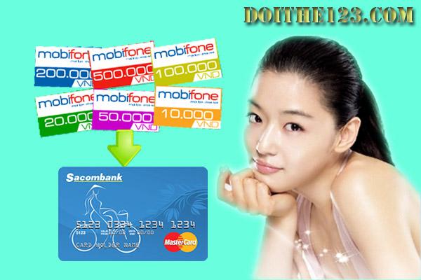 Đổi thẻ cào mobifone sang ngân hàng sacombank