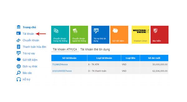 Kiểm tra tài khoản ngân hàng viettinbank bằng internet