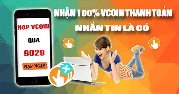 Mua mã thẻ vcoin dễ dàng bằng sms vinaphone