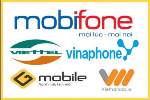 Mua thẻ điện thoại các nhà mạng
