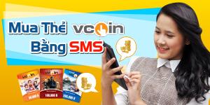 Cách mua thẻ vcoin bằng sms viettel, vinaphone, mobifone