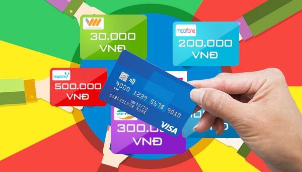 Nạp tiền vào tài khoản ngân hàng bằng thẻ cào